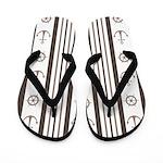 Anchor Nautical Tan Flip Flops