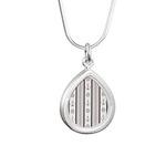 Anchor Nautical Tan Silver Teardrop Necklace