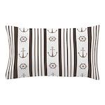 Anchor Nautical Tan Pillow Case