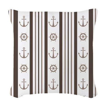 Anchor Nautical Tan Woven Throw Pillow