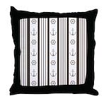 Anchor Nautical Tan Throw Pillow