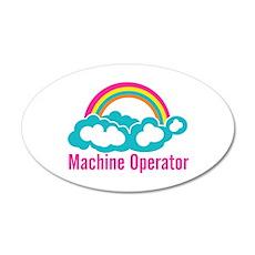 Cloud Rainbow Machine Operat 20x12 Oval Wall Decal