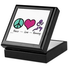 Peace- Love- Running Keepsake Box