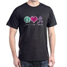 Peace- Love- Running T-Shirt