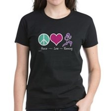 Peace- Love- Running Tee