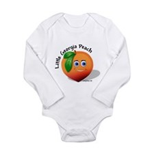 Cool Fruit peach Long Sleeve Infant Bodysuit