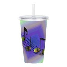 Dubstep Notes Acrylic Double-wall Tumbler