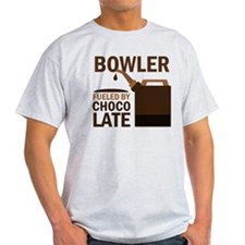 Bowler Fueled by chocolate T-Shirt