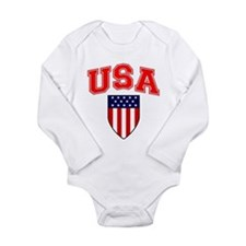 Patriotic U.S.A American Flag Shield Body Suit