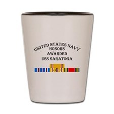 USS Saratoga Shot Glass