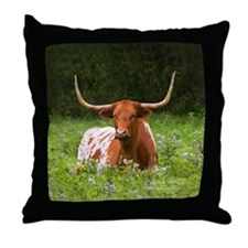 Longhorn Throw Pillow