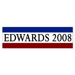 Edwards 2008 Bumper Sticker