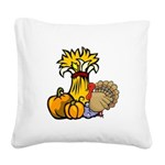 thanksgiving centra... Square Canvas Pillow