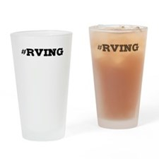 Rving Hashtag Drinking Glass