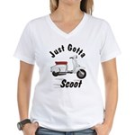 Just Gotta Scoot Lambretta Women's V-Neck T-Shirt