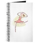 Retro Ballerina Girl Journal