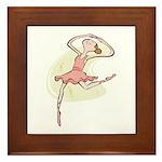Retro Ballerina Girl  Framed Tile