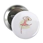 Retro Ballerina Girl 2.25