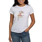 Retro Ballerina Girl Women's T-Shirt