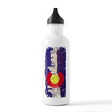 Denver Skyline Flag Water Bottle