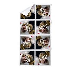 8 PHOTO Collage On White Beach Towel