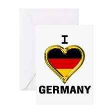 I Heart Germany Greeting Cards