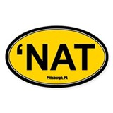'Nat Sticker - Gold