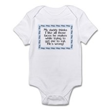 Daddy's wrong Blue Infant Bodysuit