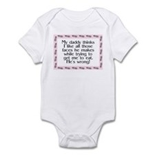 Daddy's wrong Pink Infant Bodysuit