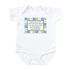 Freakin' adorable Blue/Green Infant Bodysuit