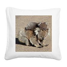 Cute Koala bear Square Canvas Pillow