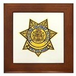 Wyoming Highway Patrol Framed Tile