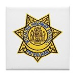 Wyoming Highway Patrol Tile Coaster