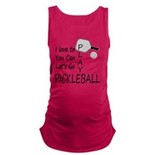 Unique Pickle ball Maternity Tank Top