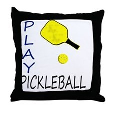 Cool Pickle ball Throw Pillow
