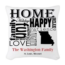 Missouri Text Woven Throw Pillow