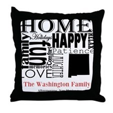New Mexico Text Throw Pillow