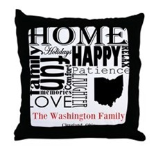 Ohio Text Throw Pillow