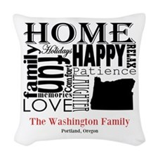 Oregon Text Woven Throw Pillow