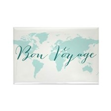 Bon voyage world map Magnets