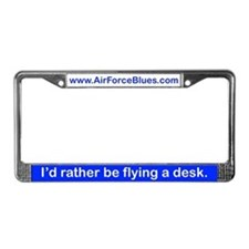 Fly a desk License Plate Frame