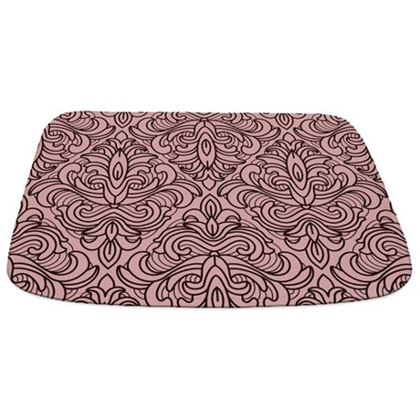 Art Deco Damask pink Bathmat