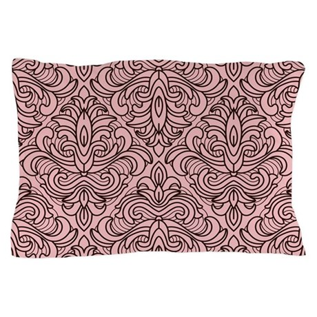 Art Deco Damask pink Pillow Case