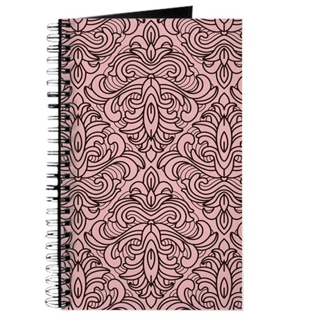 Art Deco Damask pink Journal