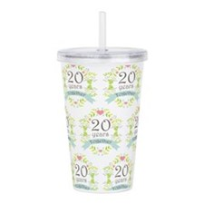 20th Anniversary pattern Acrylic Double-wall Tumbl