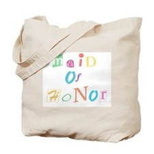 Cool Text Maid of Honor Tote Bag