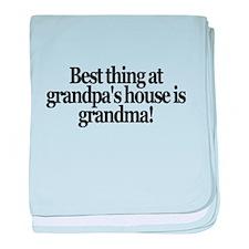Best Thing at Grandpas baby blanket