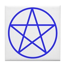 Blue Pentacle Tile Coaster