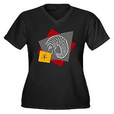 ram95light Women's Plus Size V-Neck Dark T-Shirt