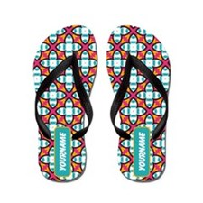 Romantic Retro Pattern Custom Flip Flops